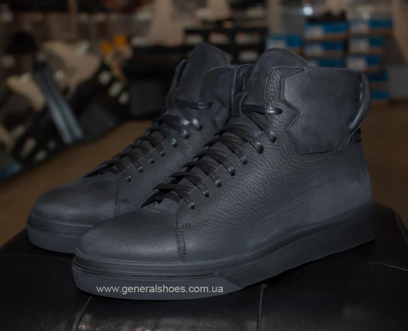 Мужские зимние кожаные ботинки Sensor 795 натуральный мех
