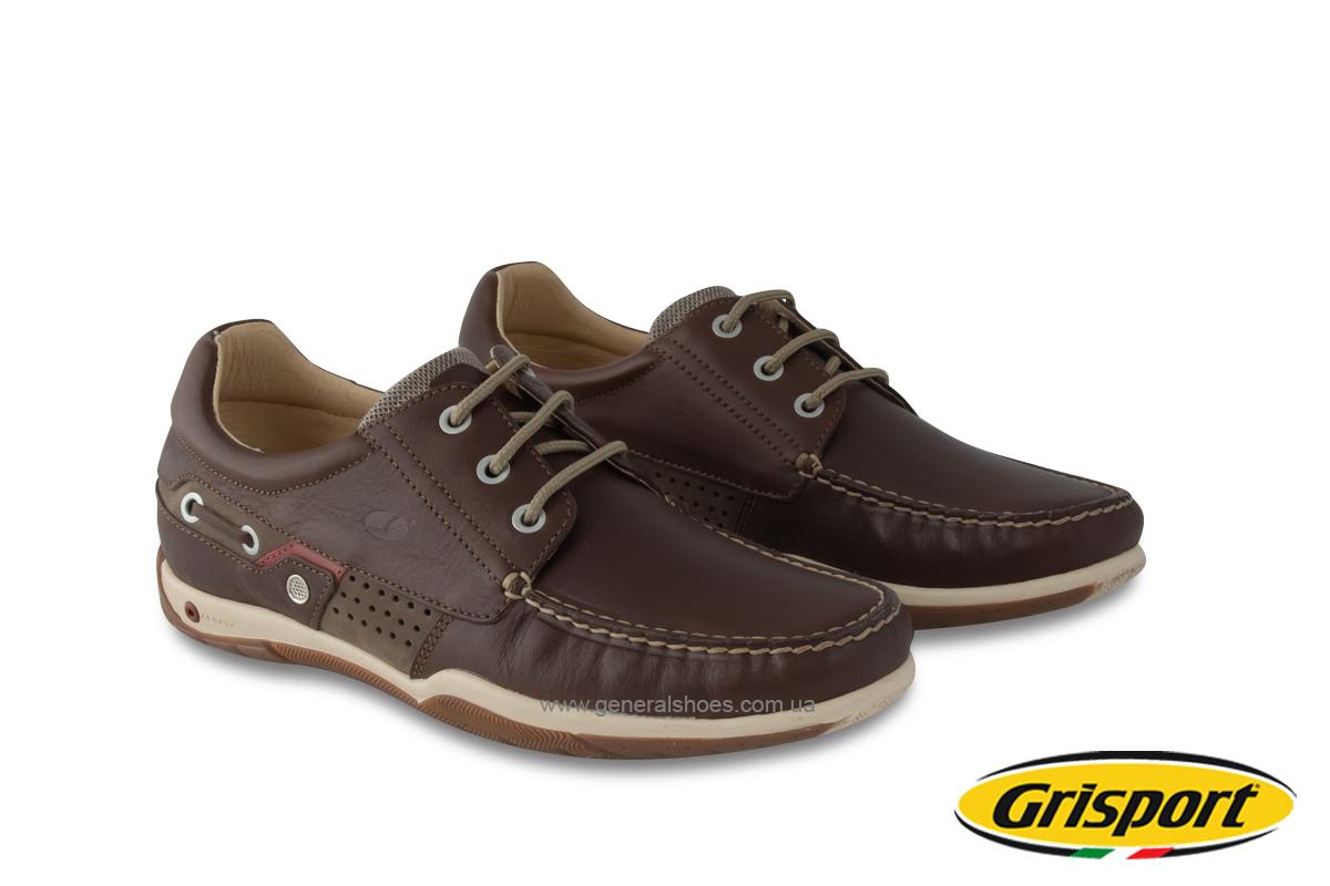 Мужские кожаные мокасины Grisport 8508-237MP Aerata Италия фото 1