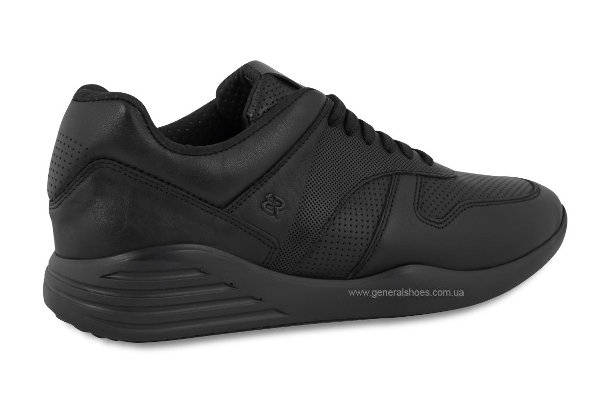 Мужские кожаные кроссовки Bertoni E28500 черные фото 4