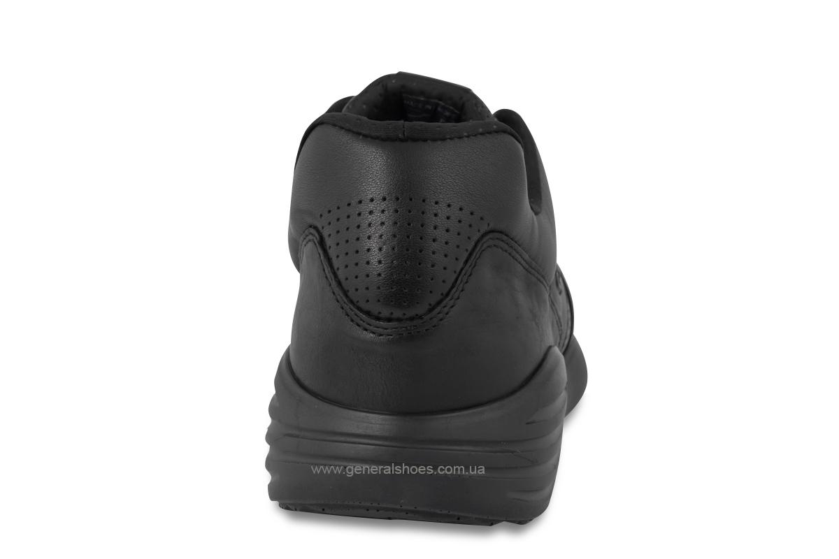 Мужские кожаные кроссовки Bertoni E28500 черные фото 5