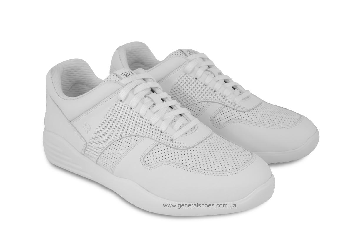 Мужские кожаные кроссовки Bertoni E28509 белые фото 1