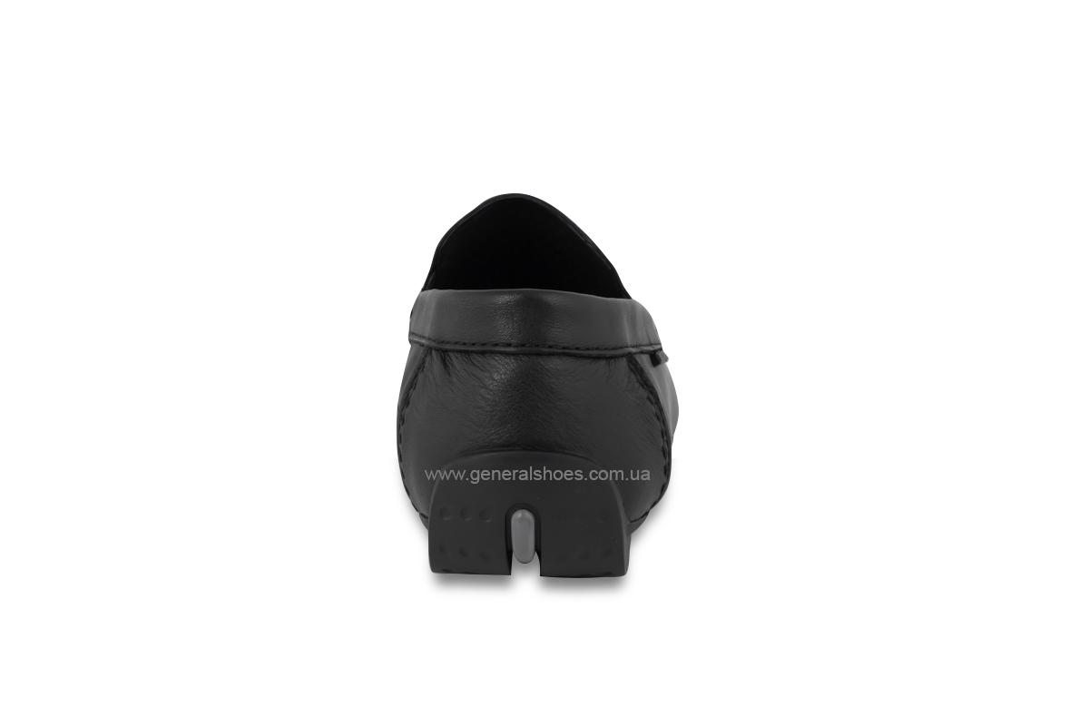 Мужские мокасины кожаные Bertoni 30170 черные фото 5
