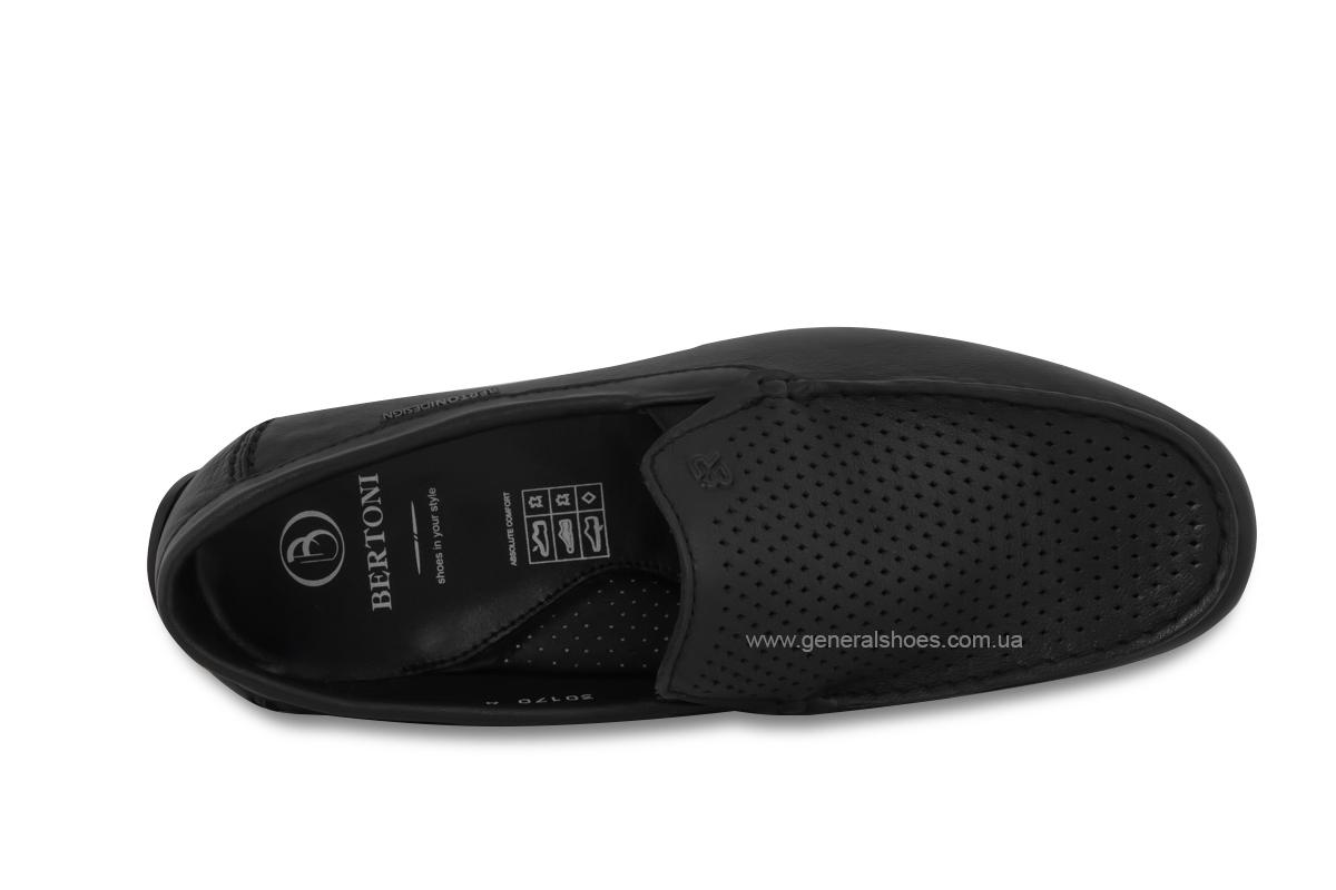 Мужские мокасины кожаные Bertoni 30170 черные фото 7