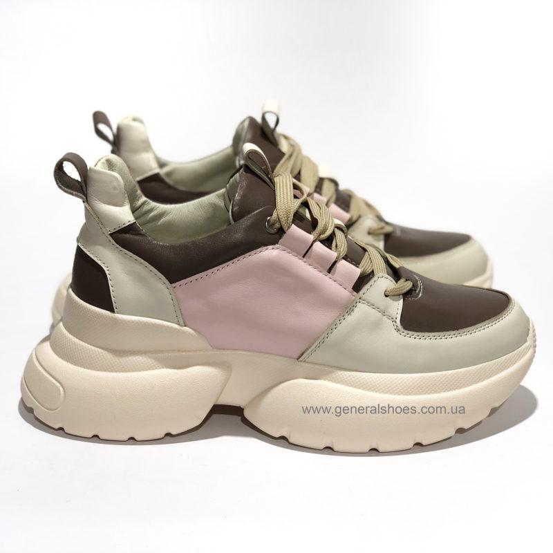 Женские кожаные кроссовки BM 2203 фото 1