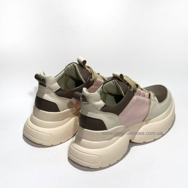 Женские кожаные кроссовки BM 2203 фото 3