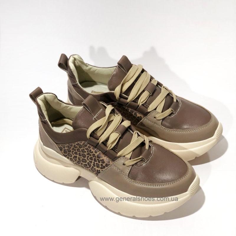Женские кожаные кроссовки BM 2215 фото 1
