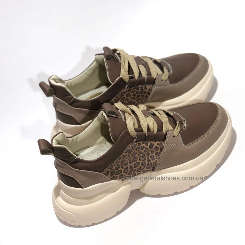 Женские кожаные кроссовки BM 2215 фото 3