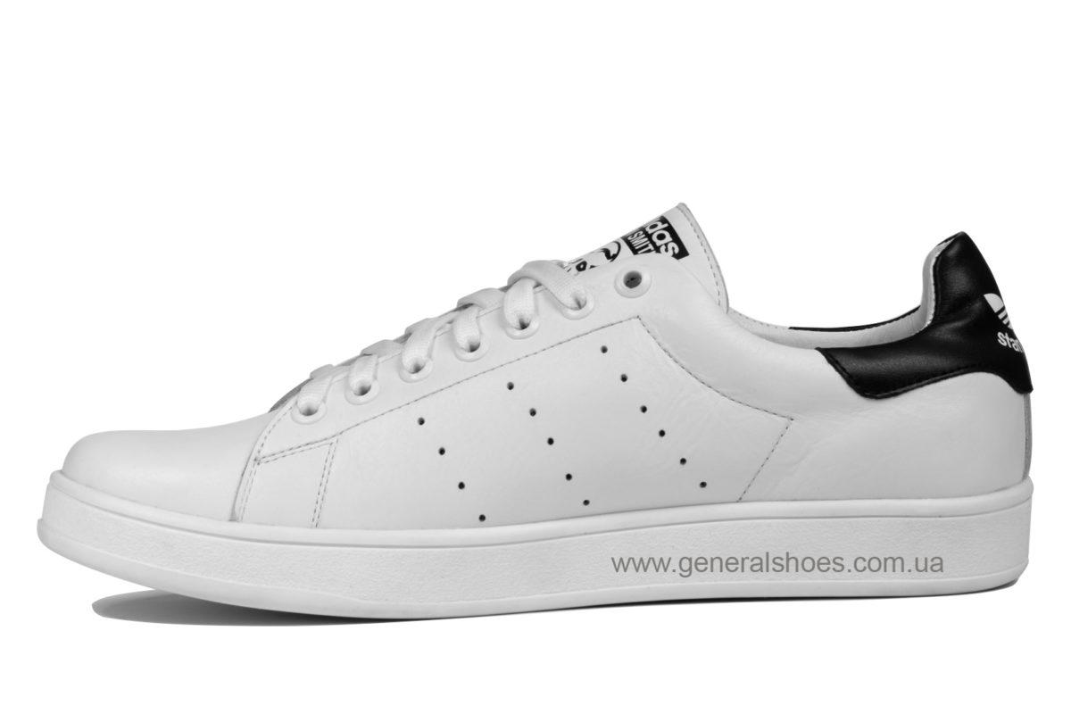 Кеды мужские кожаные А50 белые фото 3