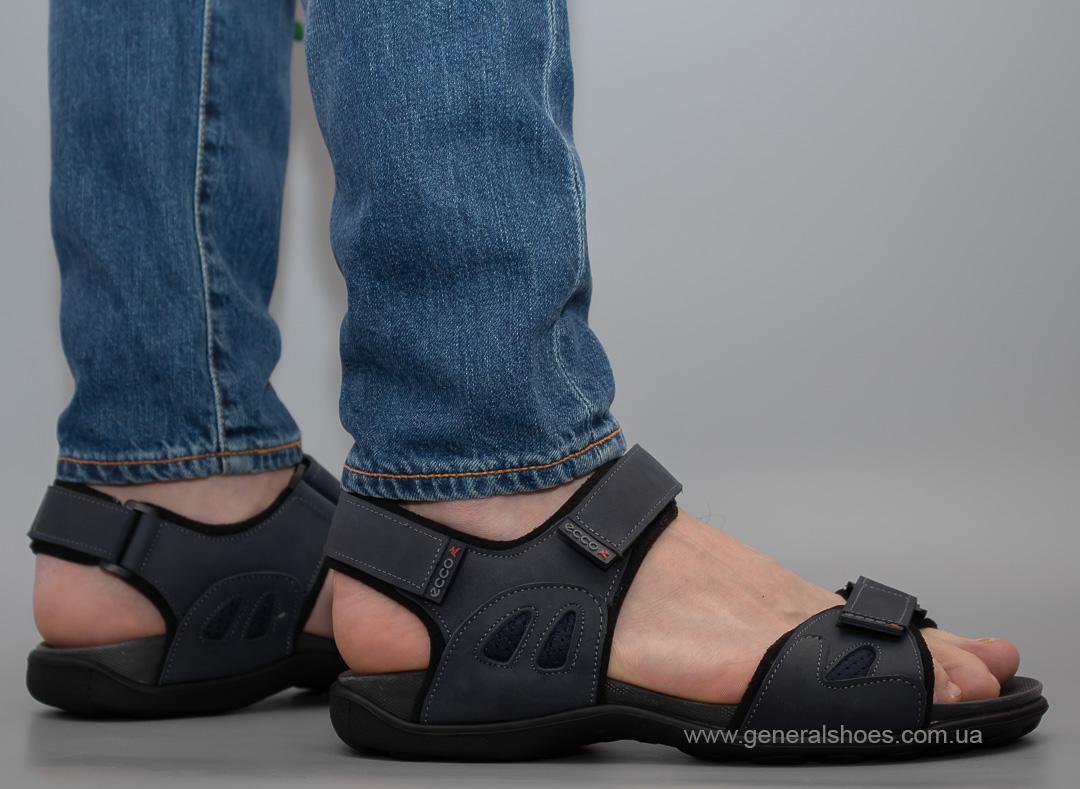 Мужские спортивные сандалии Е 3 синие фото 1