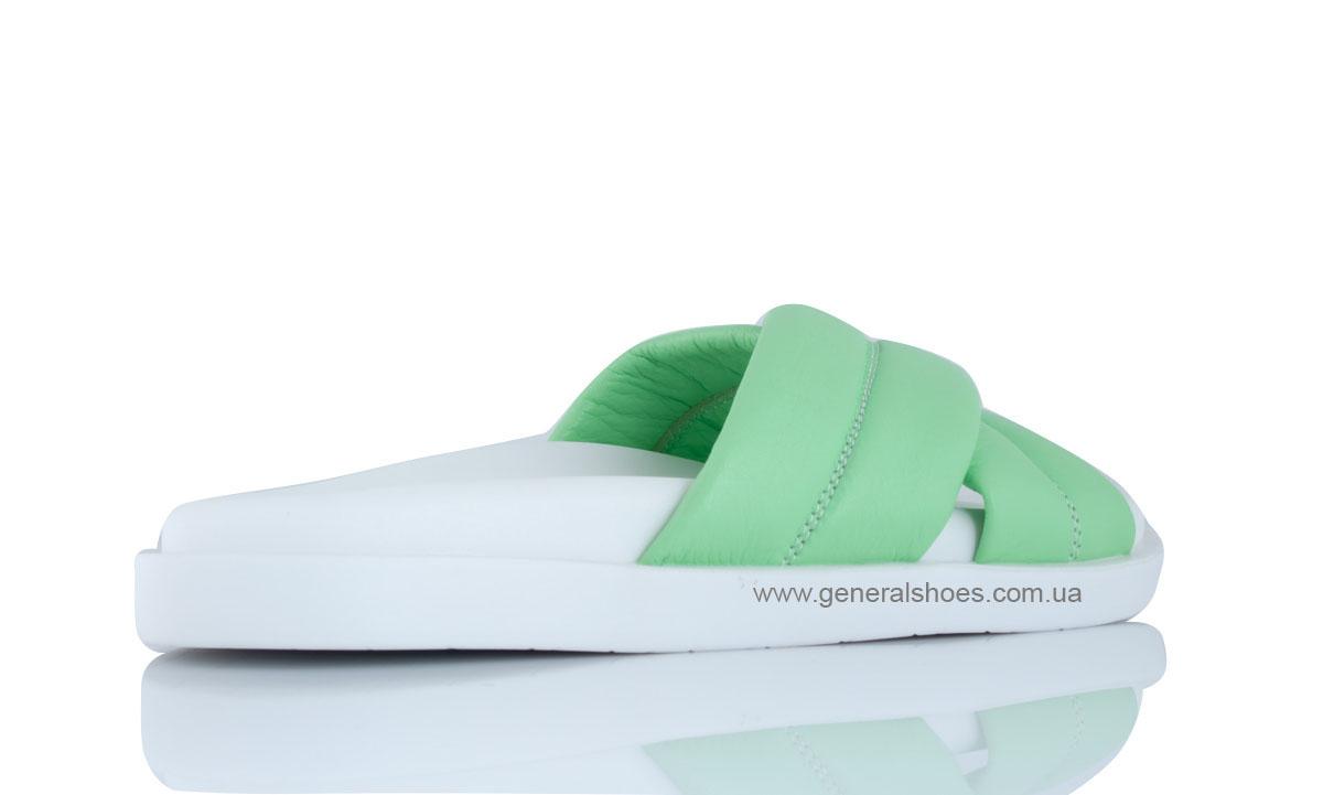 Женские кожаные шлепанцы G-30-7 фото 4