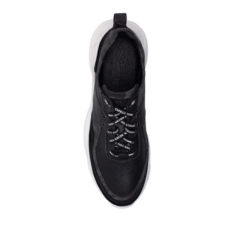Мужские кожаные кроссовки V 6256-190-081 фото 3