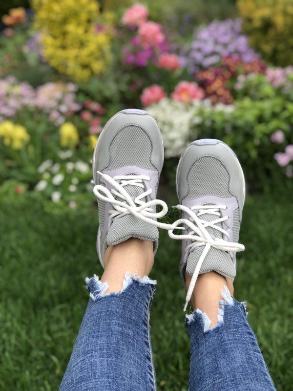 Женские кроссовки кожаные V 253-2153-32 фото 2