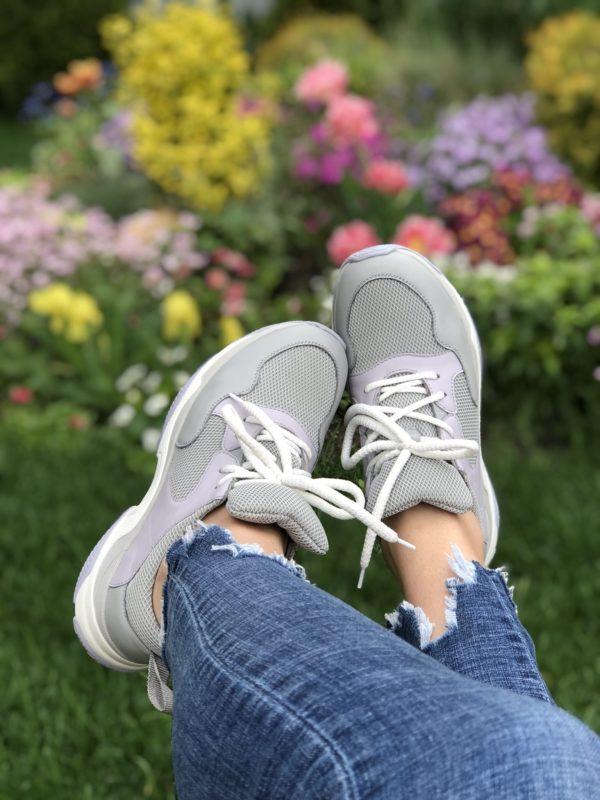 Женские кроссовки кожаные V 253-2153-32 фото 4
