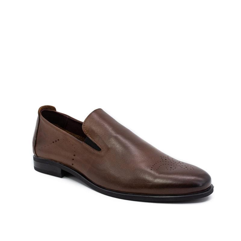 Мужские кожаные туфли VL 6233-7413-07 фото 2