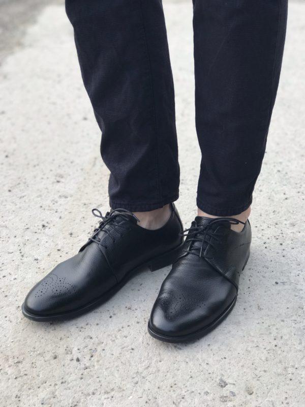 Мужские кожаные туфли VL 741-6236-55 фото 4